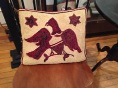 Libby Armstrong's eagle pillow
