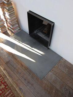 Mesh Studio Architects' Fireplace in an Art Studio, Remodelista