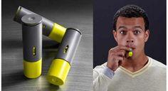 Aeroshots- Caffeine inhalers. Each shot has 100mg of caffeine with 6-8 shots in a cartridge.
