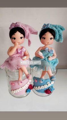 Borboleta Crochet, Clay Jar, Toilet Roll Holder, Miniature Crafts, Sewing Dolls, Pasta Flexible, Polymer Clay Crafts, Felt Dolls, Soft Sculpture