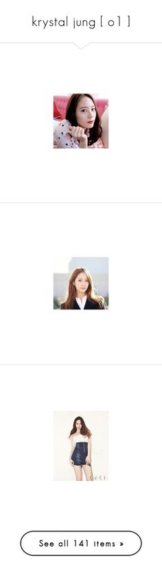 """krystal jung [ o1 ]"" by the-asgardian-clipper ❤ liked on Polyvore featuring krystal jung, asian, krystal and kpop"