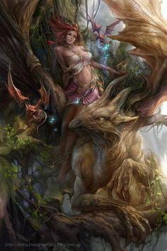 Forest Elf by derrickSong.deviantart.com on @deviantART