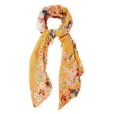 Buy Oasis Bella Butterfly Scarf, Yellow/Multi Online at johnlewis.com