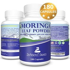 180 Capsules Organic Moringa Oleifera. Ultra-Premium, 100% USDA Certified. Provides an All Natural Energy Boost and Multi-Vitamin. A Raw Superfood, Vegan, No GMO and Gluten Free, 2 bottles -- For more information, visit image link.