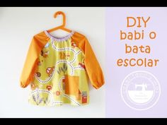 Cómo coser un babi o bata escolar - YouTube Baby Olive, Baby Play, Baby Sewing, Needle And Thread, Sewing Projects, Singer, Blouse, Kids, Dresses
