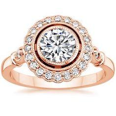 14K Rose Gold Bella Diamond Ring,