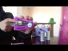 Máquina de coser portátil, como usar - YouTube