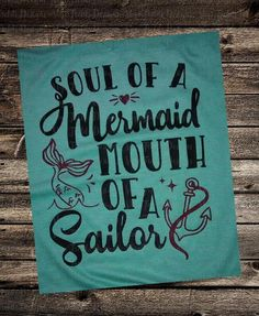 Head and mouth of a sailor. Tail and grace of a mermaid. Mermaid Art, Mermaid Canvas, Mermaid Sign, Mermaid Crafts, Ideas Habitaciones, Unicorns And Mermaids, Real Mermaids, Merfolk, My New Room