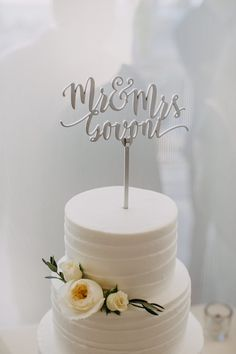 Mr /& Mrs Wedding Cake topper Argent Or Paillettes acrylique