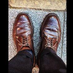 2017/01/25 12:36:36 taiyoukai37 . 久しぶりのオールデン🐸 短靴は寒い... . #そんなことより  #双子兄が高校に合格した #単願推薦だから安心してたけど #うれしい . #とりあえず #入学金その他 #30万円振込 #痛い . #オールデン#ウイングチップ #コードバン #alden#cordovan#instagram#instagood#followme#shoes#snapshot#shoesfashion#instashoes#trickers#shoe#ootd#4yuuu#instafashion#足元倶楽部#あしもとくらぶ#靴好き#あしもと倶楽部#お洒落さんと繋がりたい