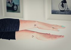 Triangle tattoos. Friendship tattoos, what they represent