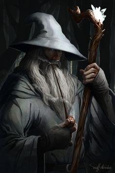 Gandalf the Grey, in fine art, by Matthew DeMino.