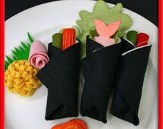 Wool Felt Play Food Sushi Rolls  Waldorf Inspired Accessory