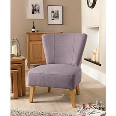 Cocktail Chair in Mauve | Sofas & Armchairs | George at ASDA