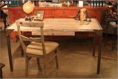 Urban Industrial Desk in Reclaimed Wood by MortiseandTenon on Etsy,