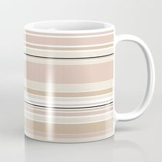 Soft Stripes Coffee Mug by laec Tea Mugs, Coffee Mugs, Bar Stools, Stripes, Tableware, Kitchen, Bar Stool Sports, Tea Cups, Dinnerware