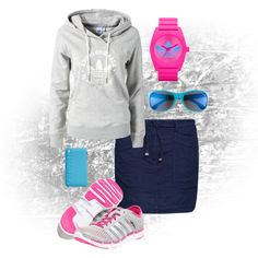 """""""pink adidas"""" by audreyfultz18 on Polyvore"""