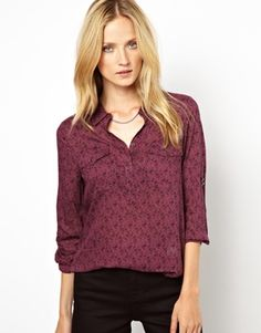 Selected Petra Long Sleeve Shirt in Cowboy Print