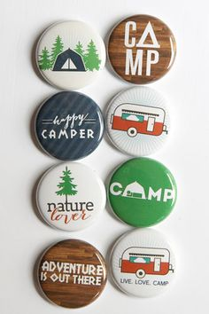 Happy Camper Flair by aflairforbuttons on Etsy, $6.00 #aflairforbuttons