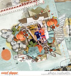 Digital scrapbook page by SeattleSheri using Those Wings: Bundle by Captivated Visions & Childhood Memories by Two Tiny Turtles