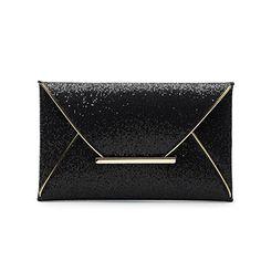 Sandistore Womens Sequins Envelope Bag Evening Party Purse Clutch Handbag