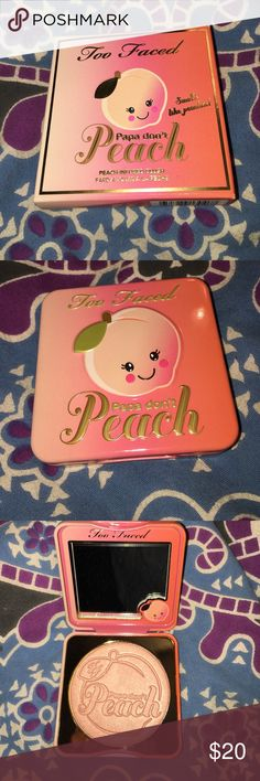 Too Faced Papa Don't Peach Blush this product is brand new and has never been used or swatched. reasonable offers only! 100% authentic Too Faced Makeup Blush