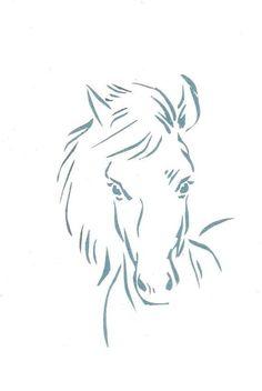 Pferdekopf Malen Vorlage Pferde Pinte