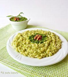Di pasta impasta: Risotto al pesto di rucola e noci