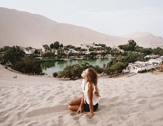 Oasis in the dunes Huacachina