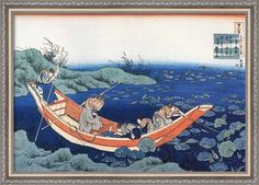Traditional Japanese art Title: Five Temple Boys Artist: Katsushika Hokusai Type: Fine-Art Print Paper Size: x Fine Art Prints, Framed Prints, Lotus Pond, Traditional Japanese Art, Katsushika Hokusai, Japanese Culture, Woodblock Print, Prints For Sale, Sculpture Art