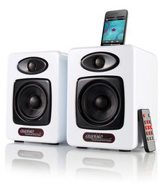 #Design-Stereo-Lautsprecher mit iPod-Dock