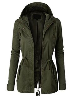LE3NO Womens Military Anorak Safari Jacket * You can find more details by visiting the image link. (This is an affiliate link) #CoatsJacketsVests