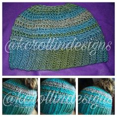 Ravelry: Blueberry Clusters Bun Hat pattern by Kayla Rollin