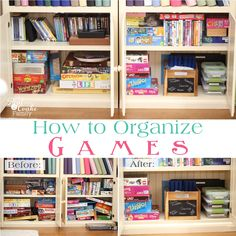 Do you have a game problem at your house like I do at mine? Our game cabinet was overflowing and a mess. After quite a while of that, I decided it was time to take matters into my own hands andorganize our game cabinet.In case you have ever wondered how to organize games and because I love…