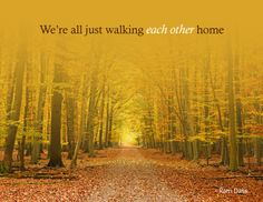 we are walking each other home | We're all just walking each other home | Journeying Beyond Breast ...