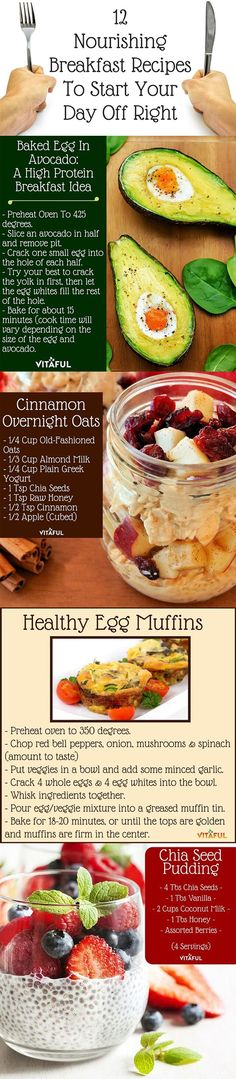 Healthy Breakfast Recipes To Start Your Day Off Right. #yummy