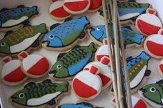 Fish and bobber cookies