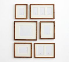 Gallery in a Box, Rustic Wood Frames - Set of 6