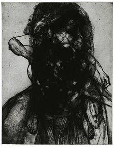 Glenn Brown, Layered Portrait (after Lucian Freud) 9