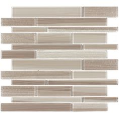 Elida Ceramica Brushed Sand Linear Mosaic Glass Wall Tile (Common: 12-in x 12-in; Actual: 11.57-in x 11.733-in)