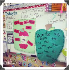 September Themes, September Activities, October, Apple Classroom, Today Is Monday, Classroom Activities, Classroom Ideas, Preschool Classroom, Seasonal Classrooms