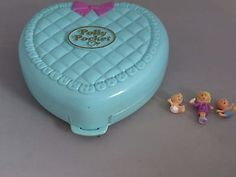 Vintage-1994-Polly-Pocket-Babytime-Fun-3-figures-Complete