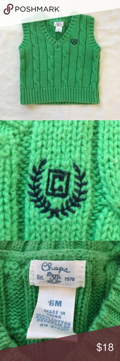 Chaps Sweater Adorable green sweater vest Chaps Jackets & Coats Vests