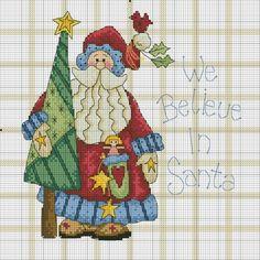 "of cute Christmas cross stitch charts. / Фото - новорічне - Katrona Maybe just ""we believe"" Santa Cross Stitch, Counted Cross Stitch Patterns, Cross Stitch Charts, Cross Stitch Designs, Cross Stitch Embroidery, Halloween Cross Stitches, Holiday Crochet, Halloween Crochet, Cross Stitch Needles"