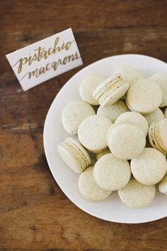 Macarons by Cassidy Budge  Laura Hooper Calligraphy Workshop by Jessica Kettle & Martha Hatfield.
