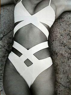 Style - Minimal + Classic: White bathing suit