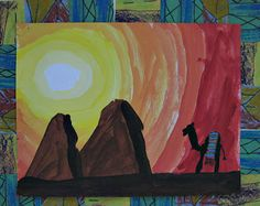 After using acrylics to paint our subjects, the children created three different patterns on colored construction paper using Sharpie and oi...