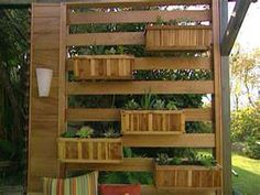 wall of planters - this is awesome!