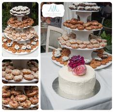 Ok, these are NOT cupcakes, but they are mini donuts at a coworker's wedding. Van Dusen Gardens and The Shaughnessy Restaurant {Vancouver Wedding Photographer} Donut Tower, Vancouver Wedding Photographer, Mini Donuts, Towers, Cupcakes, Gardens, Restaurant, Desserts, Cakes