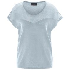 Organic knit top made of hemp, with a gorgeous sheer fabric around the shoulders. Made by Hempage.